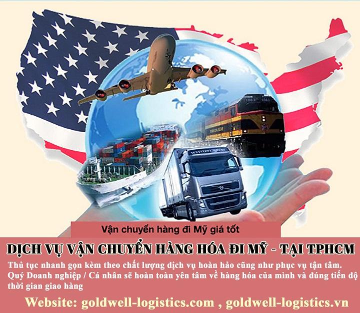 dịch vụ vận chuyển hàng hóa đi mỹ giá rẻ tại tphcm